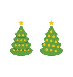 christmas tree symbol holiday vector image