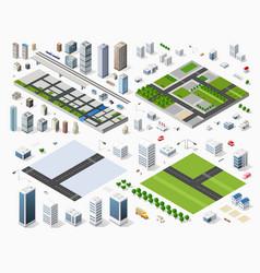 Cityscape design elements vector