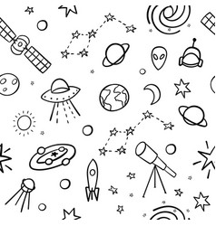 Cosmos space astronomy simple seamless pattern vector