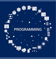 creative programming icon background vector image