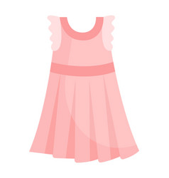 cute vibrant elegant child light pink dress vector image