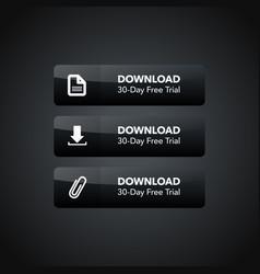 Dark web element download icon button set vector