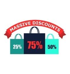 Discounts flat icon vector