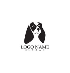 dog head logo vector image