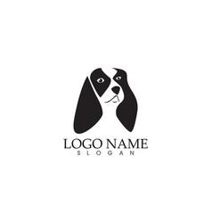 dog head logo vector image