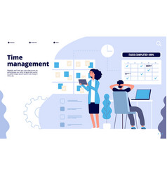Effective time management business planning vector
