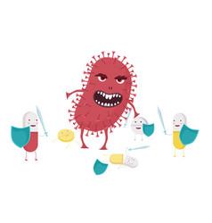 Evil bacterium with antibiotic resistance vector