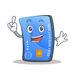 Finger credit card character cartoon vector