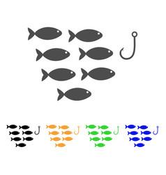 Fish hook icon vector