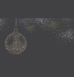 grey background with abstract christmas ball vector image vector image