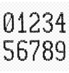 Grunge old numbers vector image