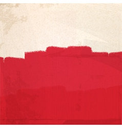 Grungy red paint vector