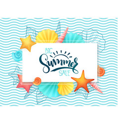 Hand lettering summer sale banner vector