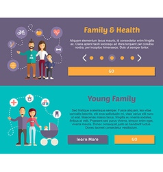 Health Family and Young Family Flat Design Concept vector image