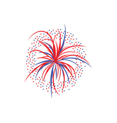 holiday firework splashes or firecracker flat vector image