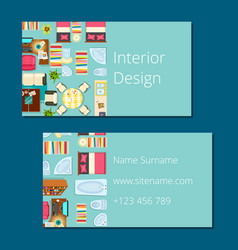 Interior design business card vector