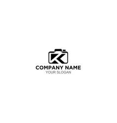 Kt photography logo design vector