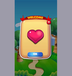 life refil mobile game user interface gui assets vector image