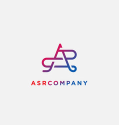 Logotype letter a s p template usable vector