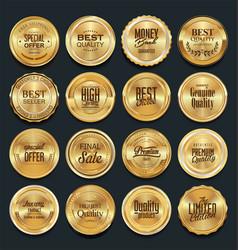 Luxury golden design elements collection vector