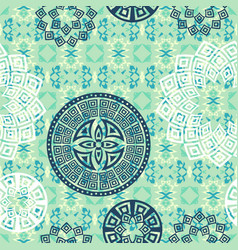 Mandala seamless pattern background vector