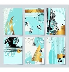 modern abstract digital painting A4 format in vector image