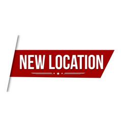 New location banner design vector