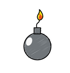 Nuclear bomb explosion dangerous weapon vector