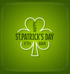 patricks day holiday floral green background vector image