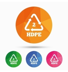 Pe-hd 2 sign icon Polyethylene high-density vector