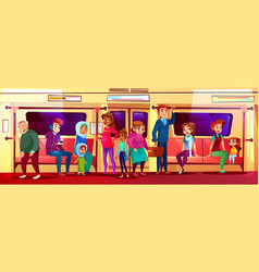 People social issue in subway vector