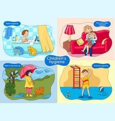 Poster baby hygiene vector