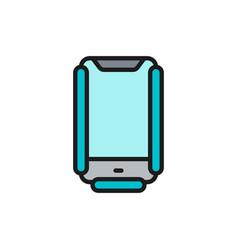 protective anti crash smartphone case flat color vector image
