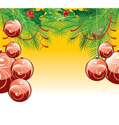 Red Bauble Christmas Background vector