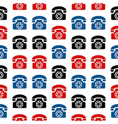 Retro phone symbol seamless pattern vector