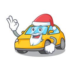 Santa taxi character mascot style vector