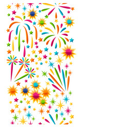 Seamless pattern with bright colorful fireworks vector