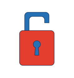 security protection padlock keyhole open symbol vector image vector image