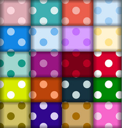 set dots patterns vector image