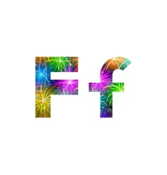Set of letters firework F vector