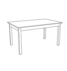 Table outline drawing vector