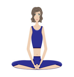 the girl practicing yoga vector image