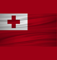 tonga flag flag of tonga blowig in the wind eps vector image
