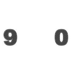 two numbers 9 0 a simple black design vector image