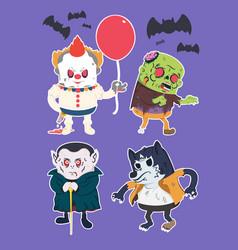 vintage halloween character design vector image