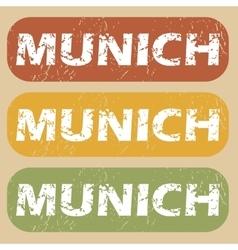Vintage Munich stamp set vector