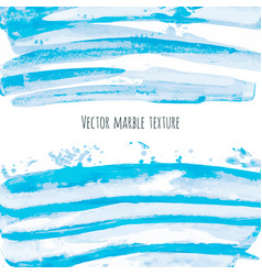 White turquoise blue marble watercolor texture vector