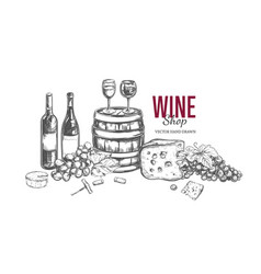 wine shop concept 1 vector image