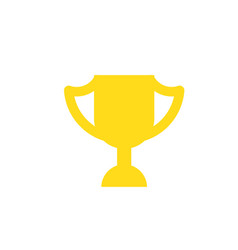 Winner cup isolated icon in vector