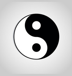 yin yang symbol sign abstract asian icon vector image